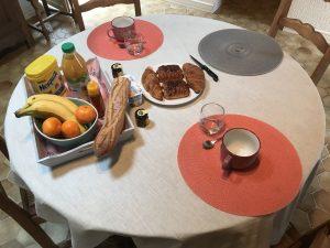 Petit déjeuner chambre d'hôte